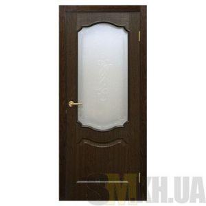 Двери межкомнатные ОМиС «Прима ПВХ» (полотно со стеклом с контурным рисунком)
