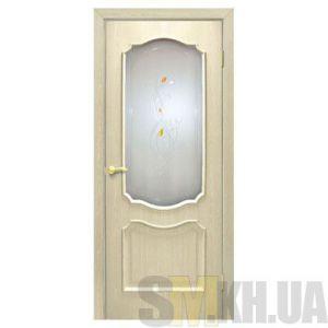 Двери межкомнатные ОМиС «Прованс ПВХ» (полотно со стеклом с контурным рисунком)