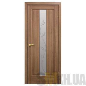 Двери межкомнатные ОМиС «Тиффани ПВХ» (полотно со стеклом с контурным рисунком)