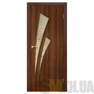 Двери межкомнатные ОМиС «Триумф ПВХ» (полотно со стеклом с контурным рисунком)