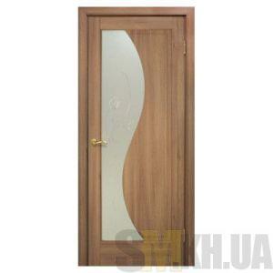 Двери межкомнатные ОМиС «Эльза ПВХ» (полотно со стеклом с контурным рисунком)
