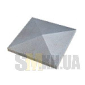 Крышка на столб четырехскатная (серый)