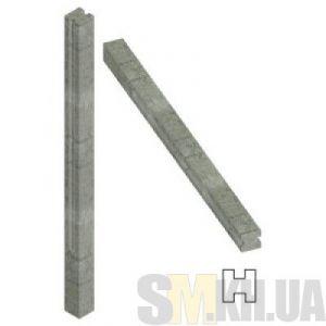 Столб для еврозабора 170 см (две секции)