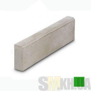 Поребрик (бордюр тротуарный) вибролитой (зеленый) (4 см)