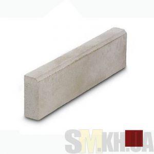Поребрик (бордюр тротуарный) вибролитой (коричневый) (6,5 см)
