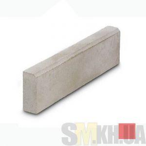 Поребрик (бордюр тротуарный) вибролитой (красный) (6,5 см)