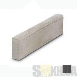 Поребрик (бордюр тротуарный) вибролитой (черный) (4 см)