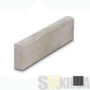 Поребрик (бордюр тротуарный) вибролитой (черный) (6,5 см)