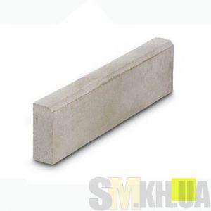 Поребрик (бордюр тротуарный) сухопрессованный (желтый) (8 см)