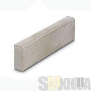 Поребрик (бордюр тротуарный) сухопрессованный (серый) (8 см)