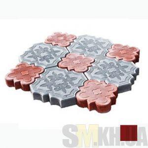 Тротуарная плитка «Гжель» коричневая вибролитая (кв.м)