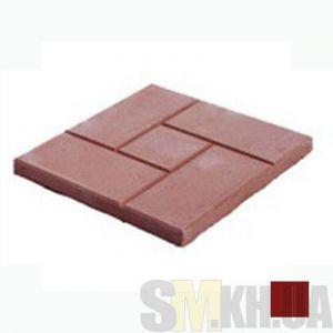 Тротуарная плитка «Квадрат и кирпич» коричневая вибролитая (кв.м)