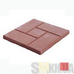 Тротуарная плитка «Квадрат и кирпич» красная вибролитая (кв.м)