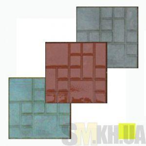 Тротуарная плитка «Квадрат» желтая вибролитая (кв.м)