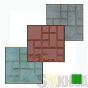 Тротуарная плитка «Квадрат» зеленая вибролитая (кв.м)