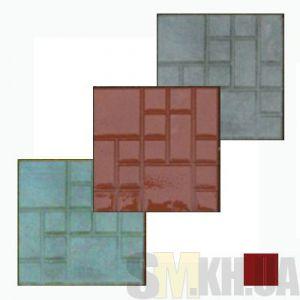 Тротуарная плитка «Квадрат» коричневая вибролитая (кв.м)