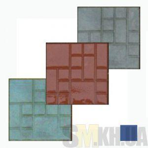 Тротуарная плитка «Квадрат» синяя вибролитая (кв.м)