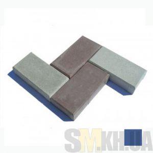Тротуарная плитка «Кирпичик» синяя вибролитая (кв.м)