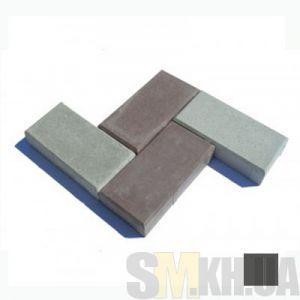 Тротуарная плитка «Кирпичик» черная вибролитая (кв.м)