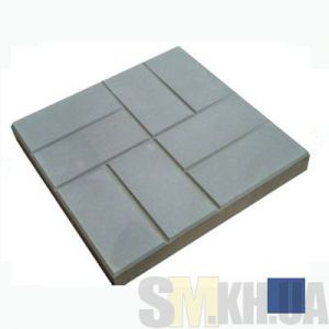 Тротуарная плитка «Паркет» синяя вибролитая (кв.м)