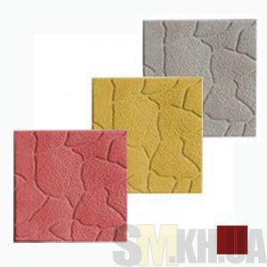 Тротуарная плитка «Песчаник» коричневая вибролитая (кв.м)