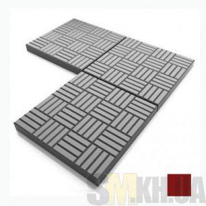 Тротуарная плитка «Печенье» коричневая вибролитая (кв.м)