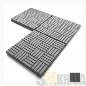 Тротуарная плитка «Печенье» черная вибролитая (кв.м)
