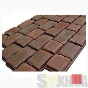 Тротуарная плитка «Средневековый камень» красная вибролитая (кв.м)