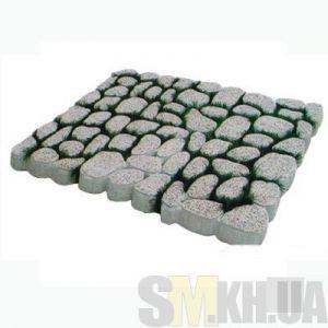 Тротуарная плитка «Травница» серая вибролитая (шт.)
