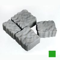 Тротуарная плитка сухопрессованная «Австрийский камень» зеленая 60 мм (кв.м)