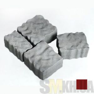 Тротуарная плитка сухопрессованная «Австрийский камень» коричневая 60 мм (кв.м)