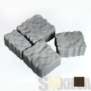 Тротуарная плитка сухопрессованная «Австрийский камень» кофейная 60 мм (кв.м)