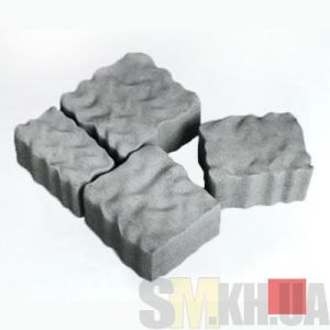 Тротуарная плитка сухопрессованная «Австрийский камень» красная 60 мм (кв.м)