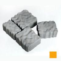 Тротуарная плитка сухопрессованная «Австрийский камень» оранжевая 60 мм (кв.м)