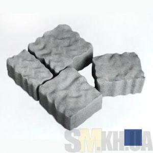 Тротуарная плитка сухопрессованная «Австрийский камень» синяя 60 мм (кв.м)