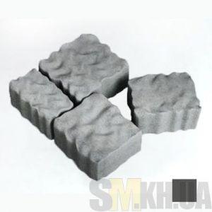 Тротуарная плитка сухопрессованная «Австрийский камень» черная 60 мм (кв.м)
