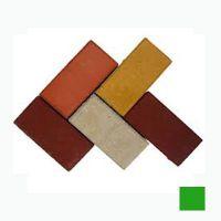 Тротуарная плитка сухопрессованная «Кирпич» зеленая 40 мм (кв.м)
