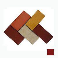 Тротуарная плитка сухопрессованная «Кирпич» коричневая 40 мм (кв.м)