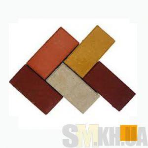Тротуарная плитка сухопрессованная «Кирпич» оранжевая 60 мм (кв.м)