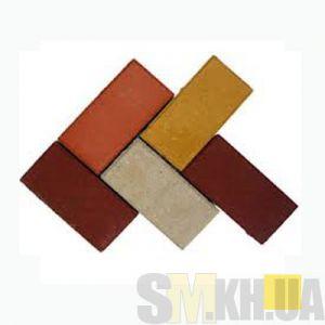 Тротуарная плитка сухопрессованная «Кирпич» персиковая 40 мм (кв.м)