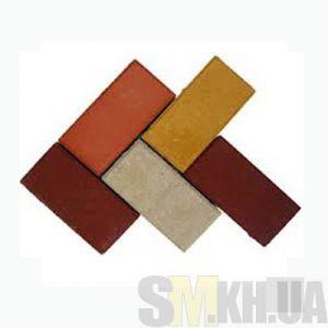 Тротуарная плитка сухопрессованная «Кирпич» серая 40 мм (кв.м)