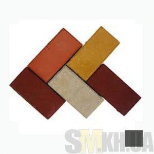Тротуарная плитка сухопрессованная «Кирпич» черная 40 мм (кв.м)