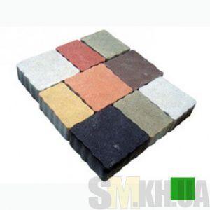 Тротуарная плитка сухопрессованная «Львовский камень» зеленая 60 мм (кв.м)