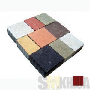 Тротуарная плитка сухопрессованная «Львовский камень» коричневая 60 мм (кв.м)
