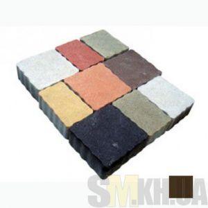 Тротуарная плитка сухопрессованная «Львовский камень» кофейная 60 мм (кв.м)