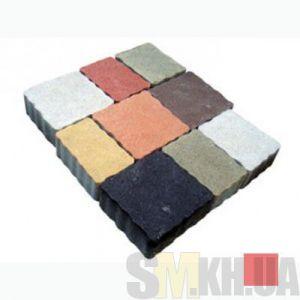 Тротуарная плитка сухопрессованная «Львовский камень» красная 60 мм (кв.м)
