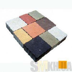 Тротуарная плитка сухопрессованная «Львовский камень» оранжевая 60 мм (кв.м)