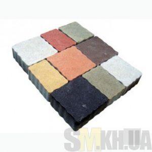 Тротуарная плитка сухопрессованная «Львовский камень» серая 60 мм (кв.м)