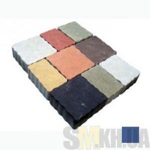 Тротуарная плитка сухопрессованная «Львовский камень» синяя 60 мм (кв.м)