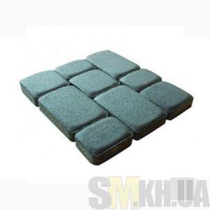 Тротуарная плитка сухопрессованная «Старый город» серая 40 мм (кв.м)